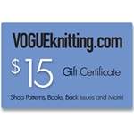 $15 Vogue Knitting Gift Certificate