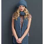 MOSS STITCH SCARF AND DAISY STICH HAT