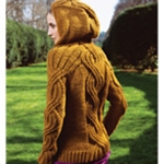 HOODED PULLOVER Vogue Knitting Fall 2008 #28