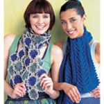 FLORAL TRELLIS SCARF/CABLED SCARF