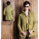 SMOCKED CABLE COAT
