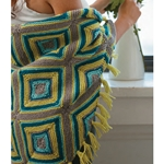 GARTER STITCH DIAMOND THROW