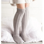 CABLED OVER-KNEE SOCKS