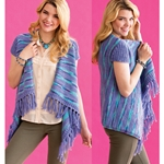 STRIPED SHAWL TOP