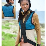 CABLED COLORBLOCK VEST