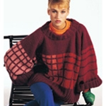 MOCK PLAID PULLOVER