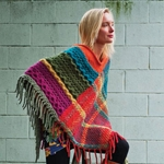 IMPERIAL CABLE & PLAID PONCHO