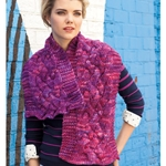 SUNSET PARK WIDE CABLED SCARF