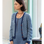 lattice pattern cardigan