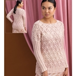 Cable and Lace Pullover