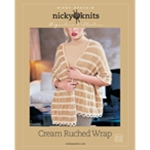 CREAM RUCHED WRAP