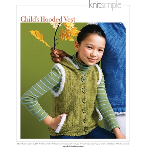 CHILD'S HOODED VEST