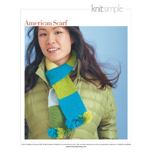 Knit Simple Winter 2008/09 #11 AMERICAN SCARF