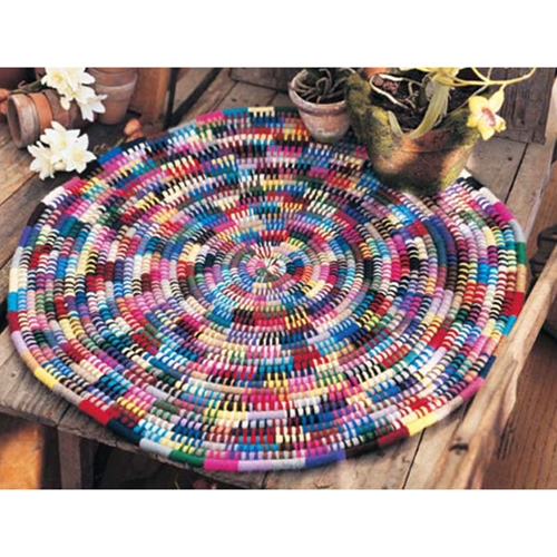 COILED PUZZLE RUG