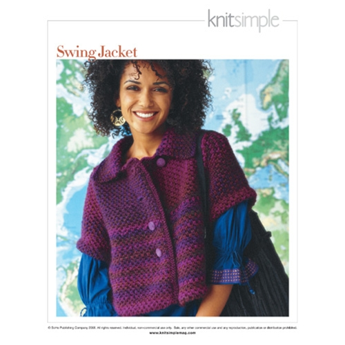 Knit Simple  Winter 2008/09 #17 SWING JACKET