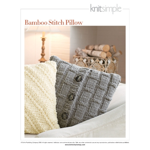 BAMBOO STITCH PILLOW