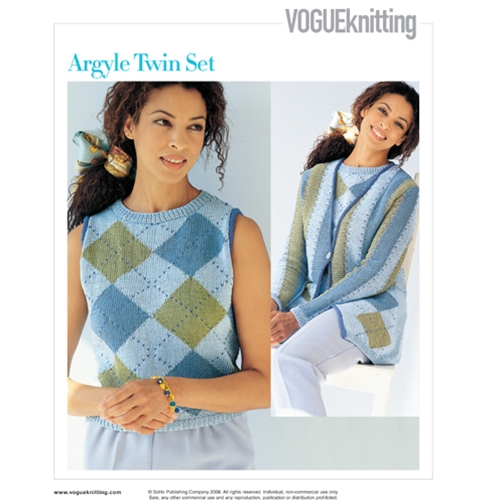 ARGYLE TWIN SET