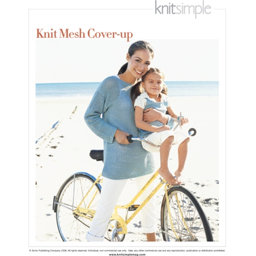 KNIT MESH COVER-UP