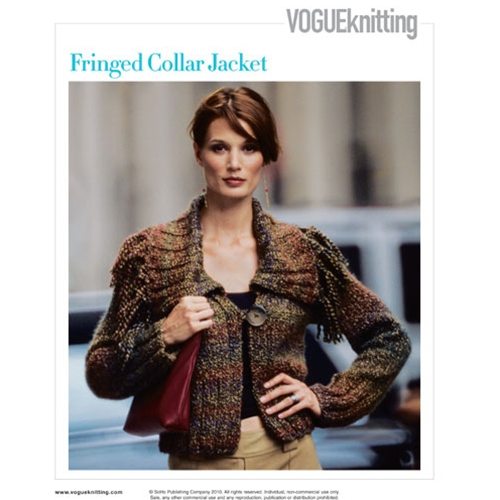 FRINGED COLLAR JACKET