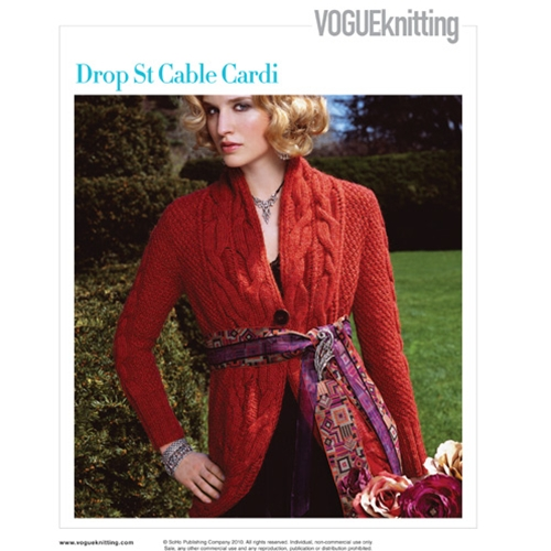 DROP STITCH CABLE CARDI Vogue Knitting Fall 2008 #26
