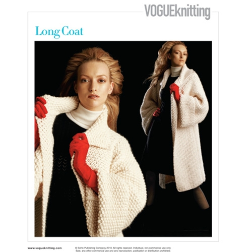 LONG COAT Vogue Knitting Fall 2005 #23