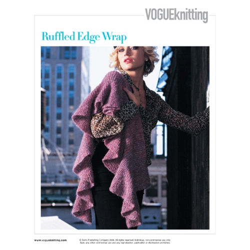 RUFFLED EDGE WRAP