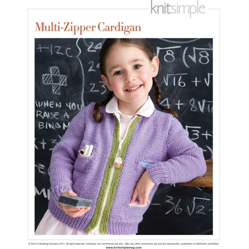 MULTI-ZIPPERED CARDIGAN