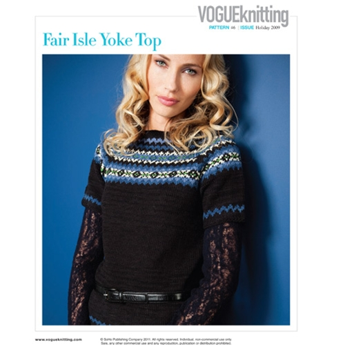 FAIR ISLE YOKE TOP