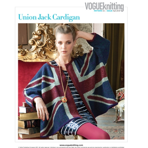 UNION JACK CARDIGAN Vogue Knitting Fall 2010 #2