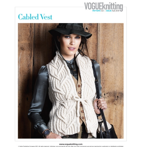 CABLED VEST