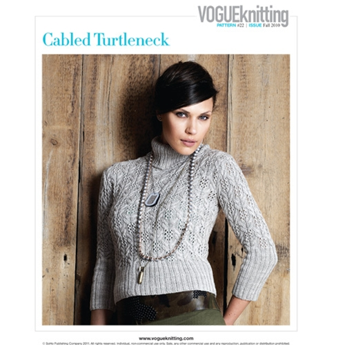CABLED TURTLENECK