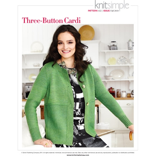 THREE-BUTTON CARDI