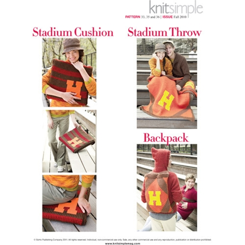 CUSHION COVER, STADIUM THROW & BACKPACK