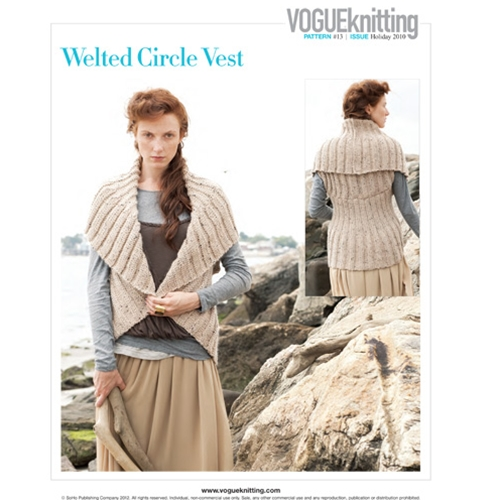 WELTED CIRCLE VEST