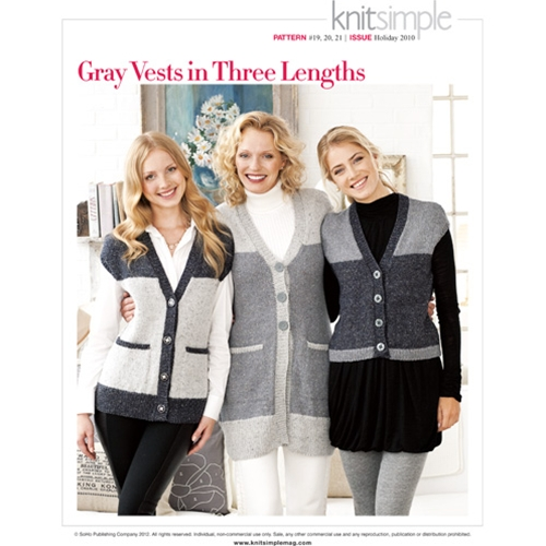 GRAY VESTS IN THREE LENGTHS