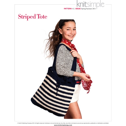 STRIPED TOTE