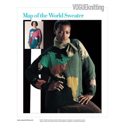 MAP OF THE WORLD SWEATER
