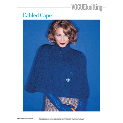 CABLED CAPE