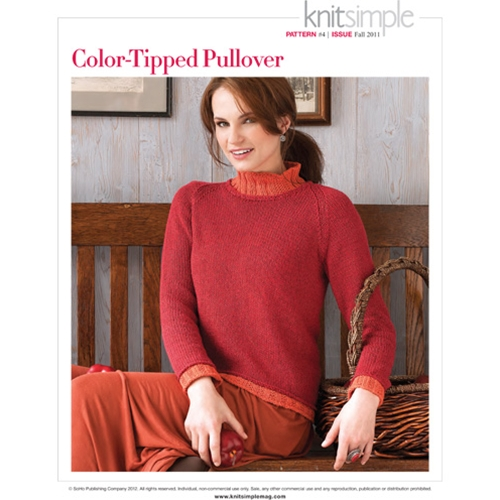 COLOR-TIPPED PULLOVER