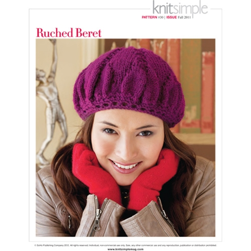 RUCHED BERET