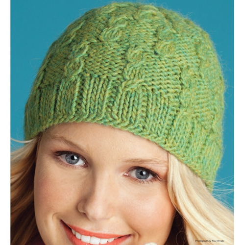 FAUX CABLED HAT