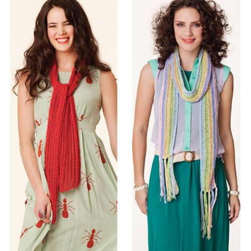 OPENWORK & STRIPED SCARVES