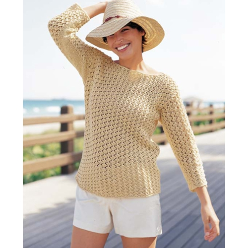 BOAT-NECK PULLOVER