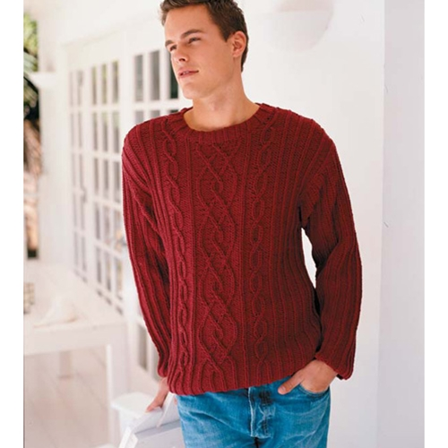 MEN'S CABLED CREWNECK