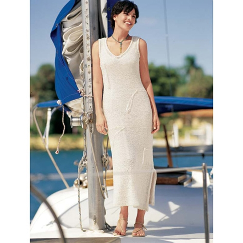 V-NECK RESORT DRESS