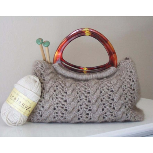 ORNA CABLES & LACE BAG