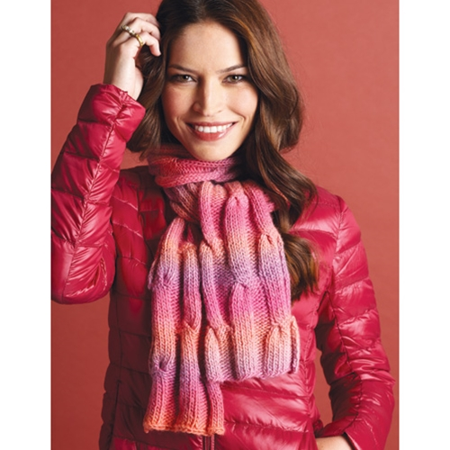 CABLED SCARF