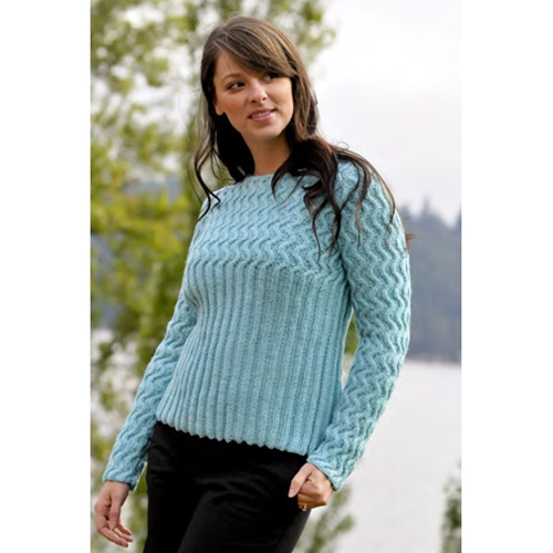 WAVE OF RIBS PULLOVER