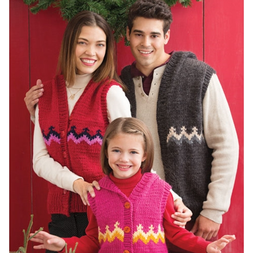 FAMILY FAIR ISLE VESTS