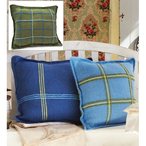 CROCHETED PLAID PILLOWS